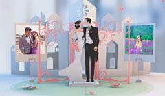 电子相册制作婚纱照相册视频结婚照片短片婚礼开场片头