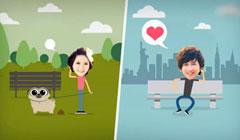 可爱婚礼电子相册卡通搞笑婚礼开场视频婚礼预告片创意照片视频